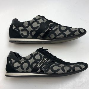 """Coach """"Kathleen"""" Black Fabric/Suede Sneaker Size 7"""